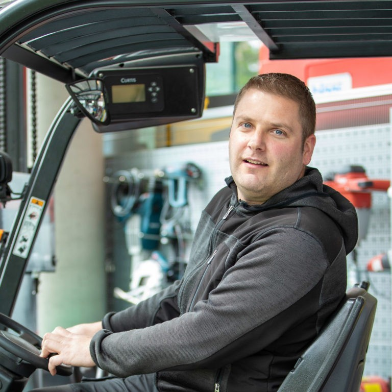 Team Blaas Lukas Lintner technischer Verantwortlicher Gabelstapler
